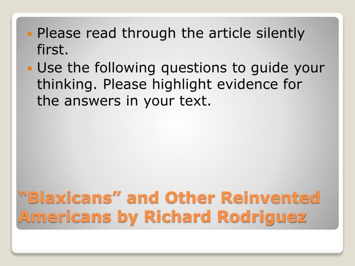 blaxicans and other reinvented americans answers