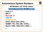 autonomous system numbers