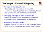 challenges of intra as mapping