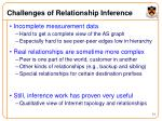 challenges of relationship inference