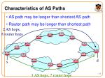 characteristics of as paths