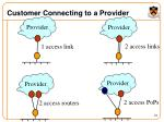 customer connecting to a provider