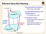 efficient early exit routing