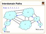 interdomain paths