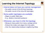 learning the internet topology