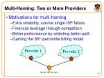multi homing two or more providers