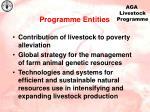 programme entities