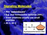 signaling molecules