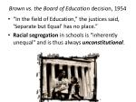 brown vs the board of education decision 1954