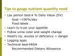 tips to gauge nutrient quantity need