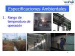 especificaciones ambientales