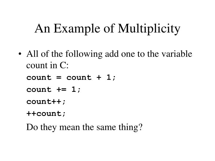 An Example of Multiplicity