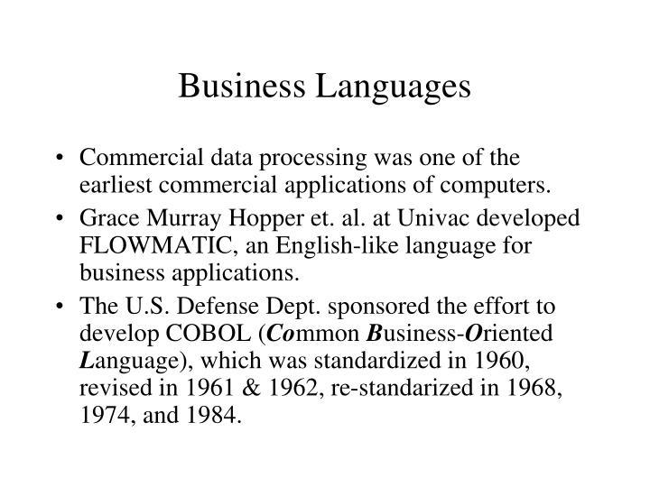 Business Languages
