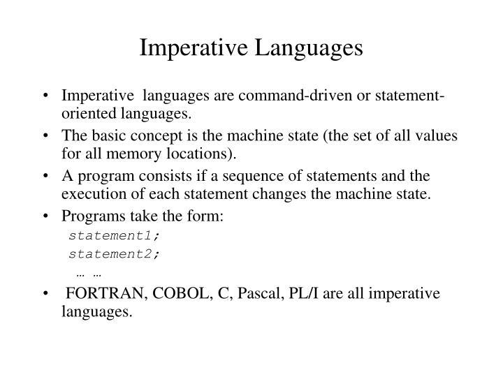 Imperative Languages