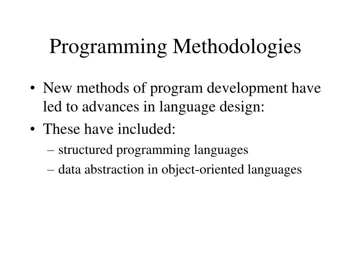Programming Methodologies