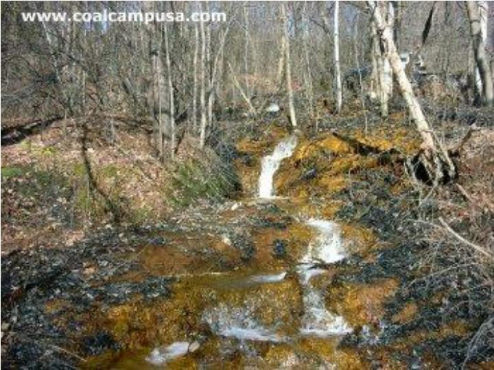 What is acid mine drainage