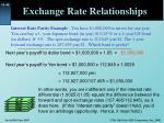 exchange rate relationships4