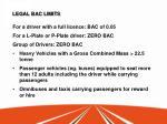 legal bac limits