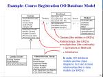 example course registration oo database model