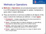 methods or operations