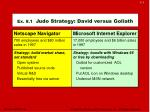 ex 8 1 judo strategy david versus goliath