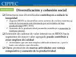 diversificaci n y cohesi n social