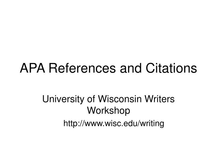 apa references and citations n.