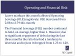 operating and financial risk