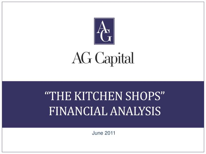 the kitchen shops financial analysis n.