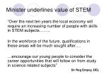 minister underlines value of stem