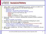 nordugrid history