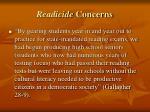 readicide concerns