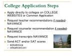 college application steps