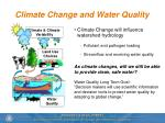 climate change and water quality
