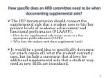 how specific does an ard committee need to be when documenting supplemental aids