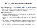what are accommodations
