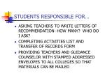 students responsible for