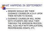 what happens in september
