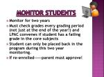 monitor students