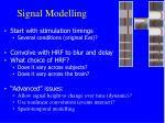 signal modelling