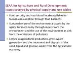 seaa for agriculture and rural development issues covered by physical supply and use tables