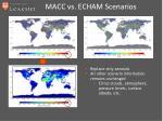 macc vs echam scenarios