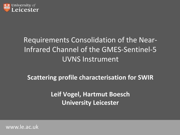 requirements consolidation of the near infrared channel of the gmes sentinel 5 uvns instrument n.