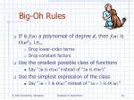 big oh rules