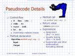 pseudocode details