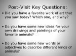 post visit key questions