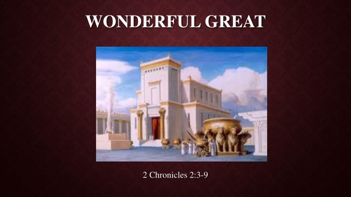 wonderful great n.