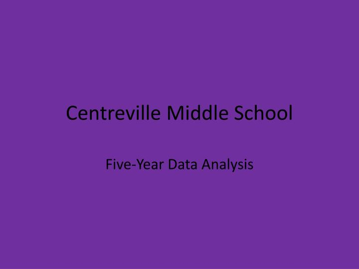 centreville middle school n.