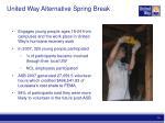 united way alternative spring break