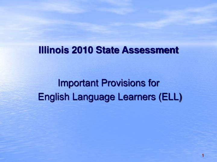 illinois 2010 state assessment n.